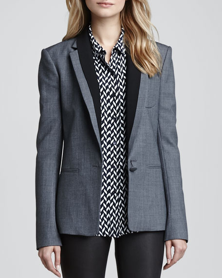 Donelly Contrast-Lapel Blazer