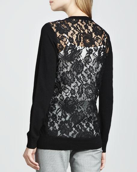Jaidyn Lace-Back Sweater