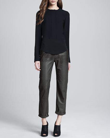 Paulette Leather Pants, Smolder