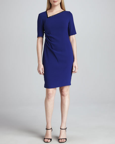 Ginger Asymmetric-Neck Dress