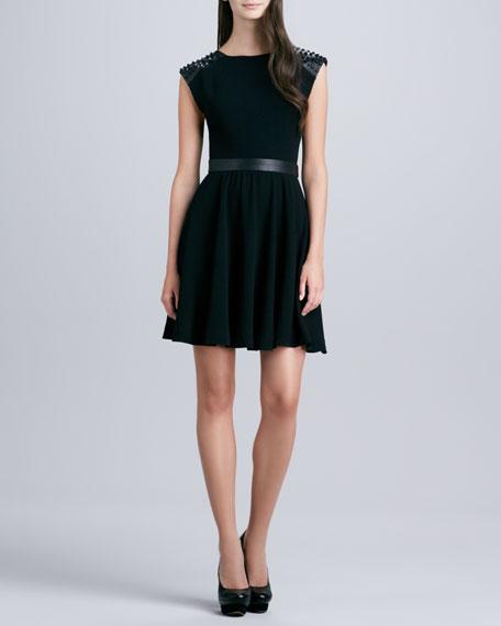 Kerry Stud-Shoulder Dress