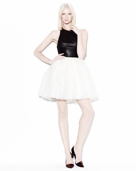 Ginnifer Leather T-Back Dress