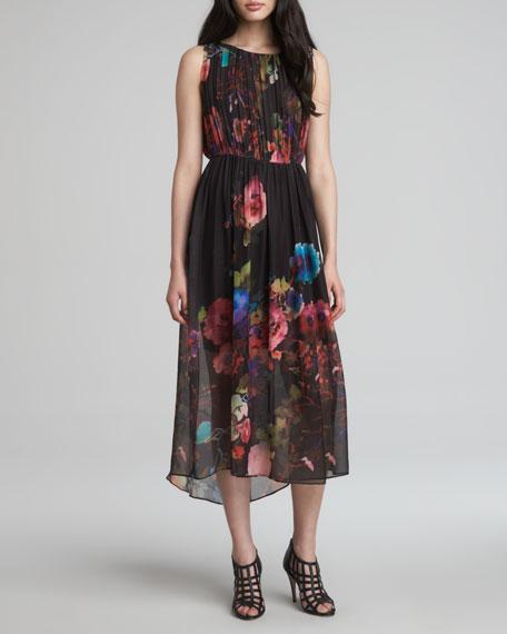 Aron Floral-Print Maxi Dress