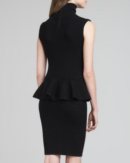 Kandi Turtleneck Peplum Dress