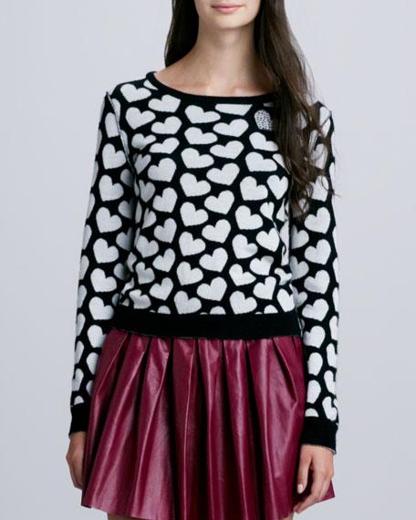 Emmy Heart-Print Sweater