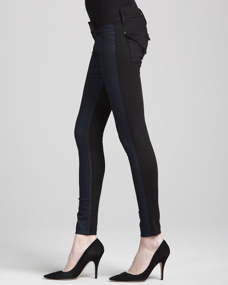 Collin Viceversa Contrast-Front/Back Skinny Jeans