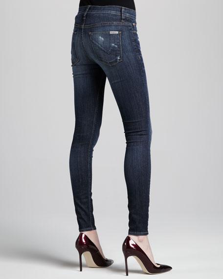 Nico Distressed Mid-Rise Skinny Jeans