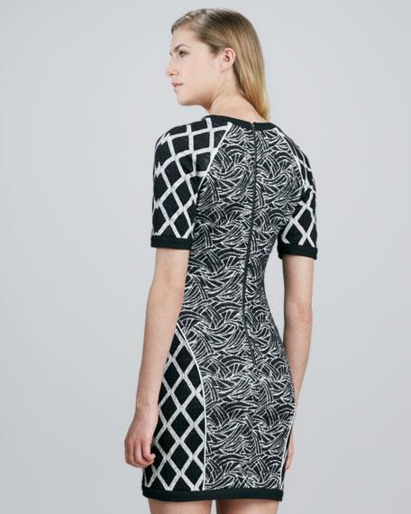 Argon Mix-Print Dress