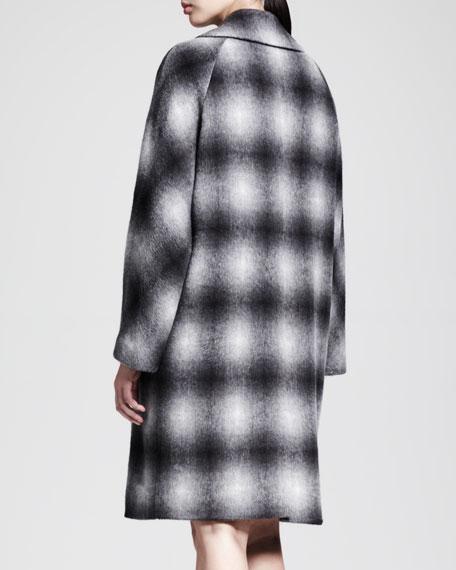 Oversized Circle-Print Coat