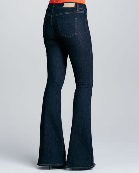 Rich Blue Flared Jeans