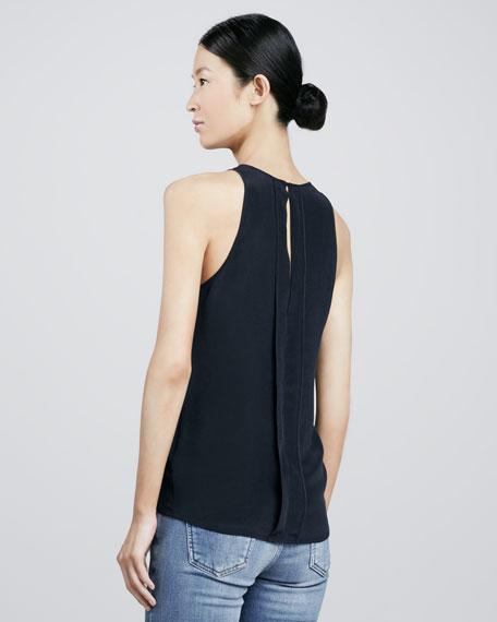 Slit-Back Silk Top