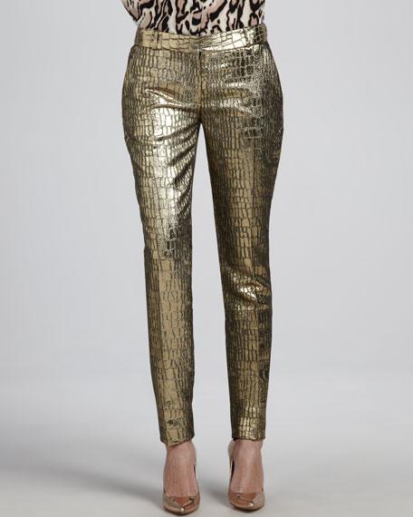 Mary Metallic Slim Pants