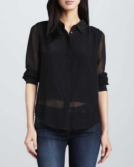 Mercina Sheer Silk Blouse