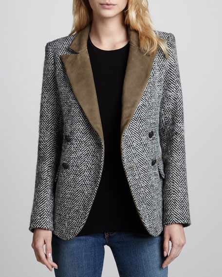 Kadette Peacoat with Suede Trim