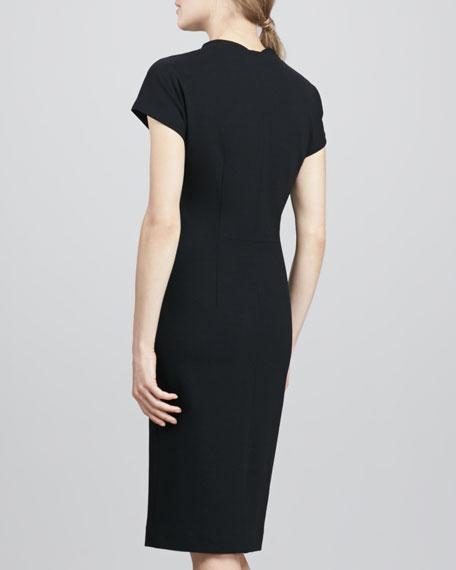 Maizah Front-Zip Sheath Dress