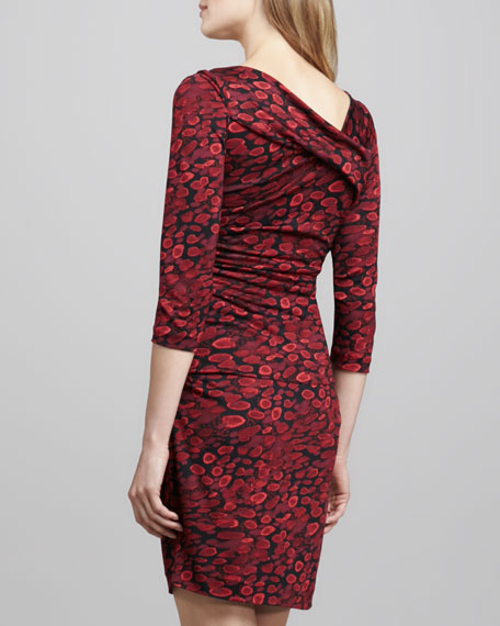Bentley Animal-Print Ruched Dress