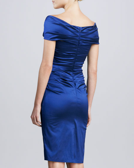 V-Neck Ruched Cocktail Dress