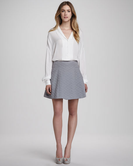 Seedo Quilted A-Line Skirt