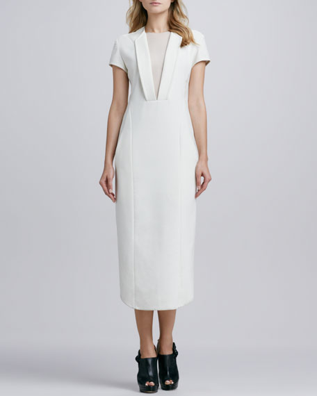 Dathlyn Tea-Length Fitted Dress