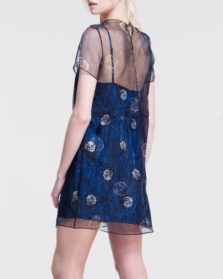 Natasha Printed Organza Dress
