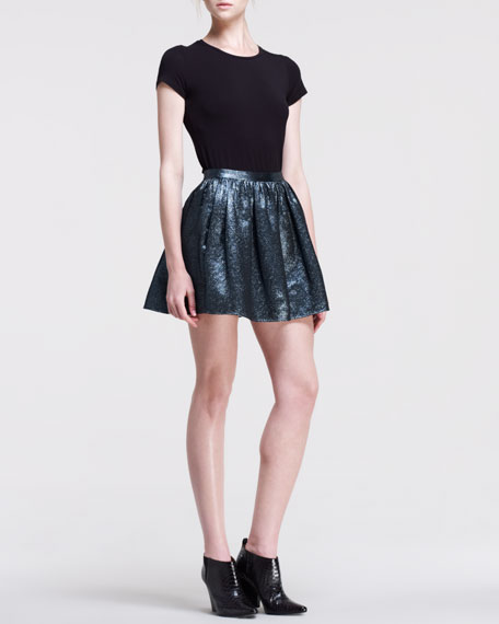 Hope Pleated Metallic Skirt