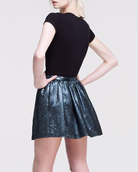 Hope Pleated Metallic Skirt
