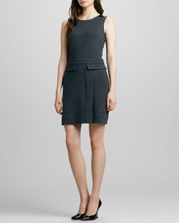 MARC by Marc Jacobs Milly Leather-Shoulder Dress