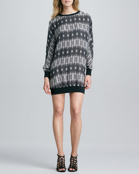 Printed Sweatshirt Dress