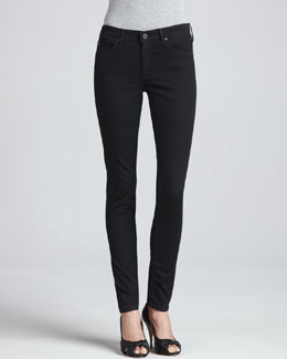 AG Adriano Goldschmied The Middi Mid-Rise Leggings, Raven