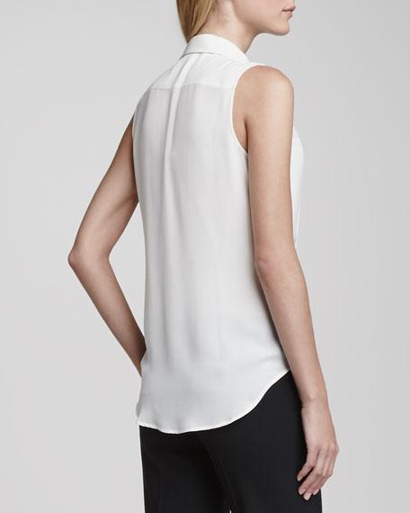 Duria Sleeveless Silk Blouse