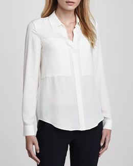 Theory Durlia Silk Blouse
