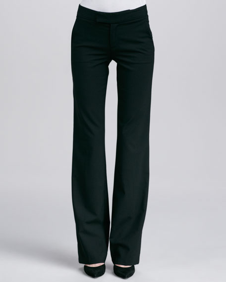 Straight-Leg Pants, Black