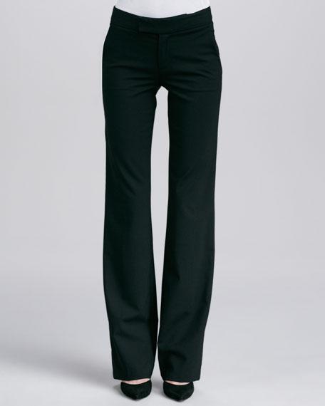 Straight-Leg Pants, Black
