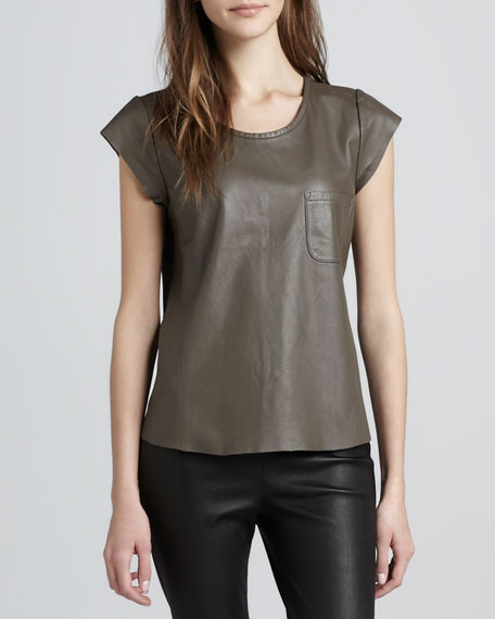 Rancher Leather Pocket Tee