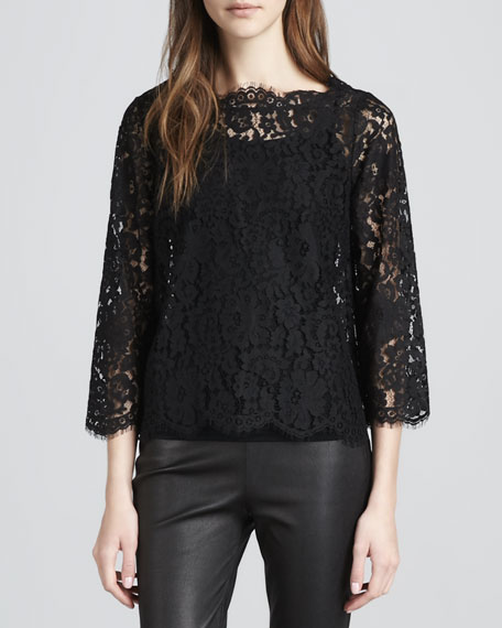 Elvia Scalloped Lace Blouse