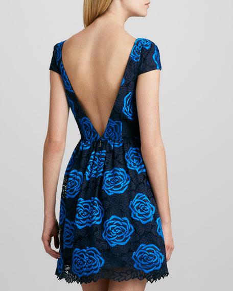 Nelly V-Back Jacquard Dress