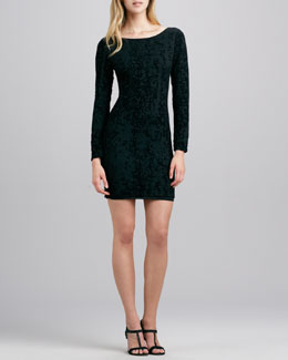 Alice + Olivia Tabitha Fitted Velvet Dress