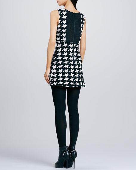 Everleigh Houndstooth Knit Dress
