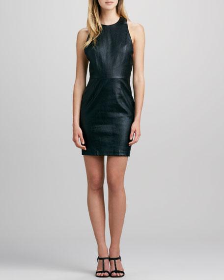 Layne Leather T-Back Dress
