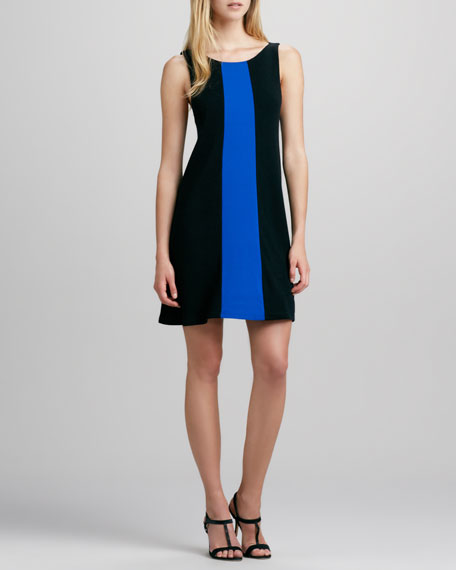 Maris Contrast-Panel Knit Dress