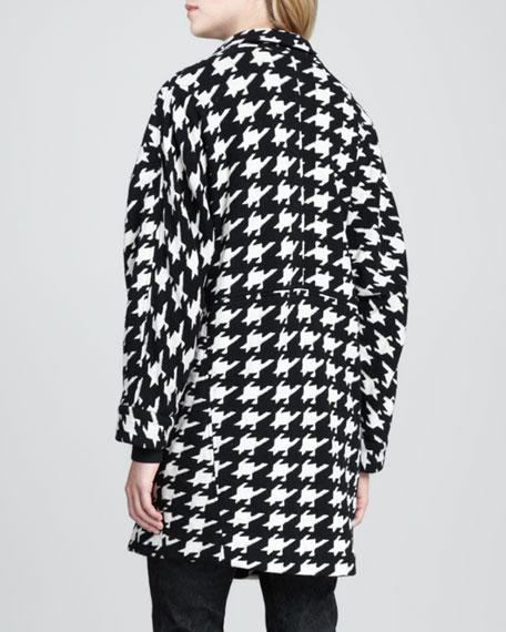 Mosley Houndstooth Cocoon Coat