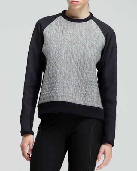 Flight Quilted Raglan Sweatshirt