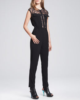 Nanette Lepore Sonata Sheer-Top Jumpsuit