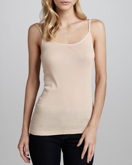 Joie Coraline Slub-Knit Camisole, Pink Sand