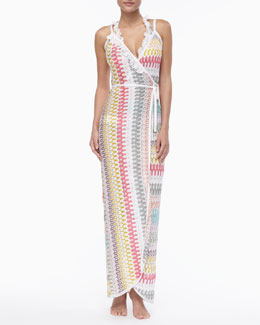 Missoni Long Wrap-Front Coverup