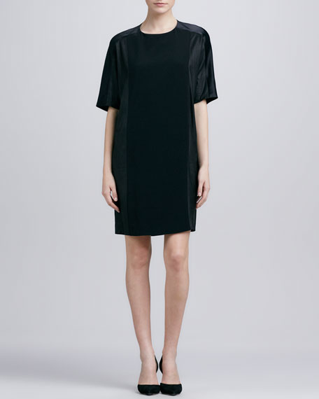 Loose Texture-Block Dress