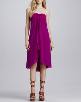 Jean Paul Gaultier Strapless Tulle Coverup Dress