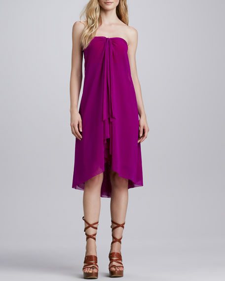 Strapless Tulle Coverup Dress