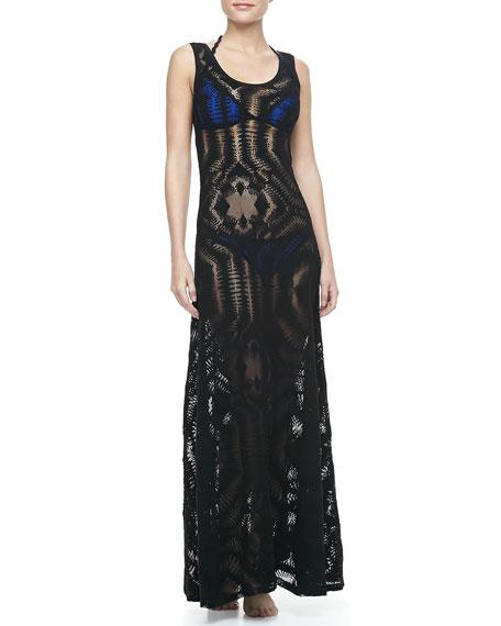 2cf1631e25 Jean Paul Gaultier Lace Coverup Maxi Dress