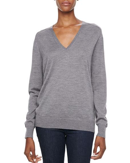 Adrianna Slub V-Neck Sweater